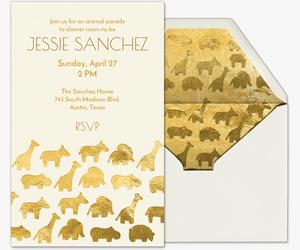 Baby Animal Parade Invitation