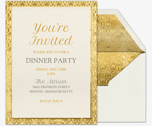 free dinner party invitations