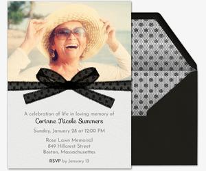 Black Ribbon Invitation