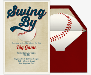 baseball free online invitations