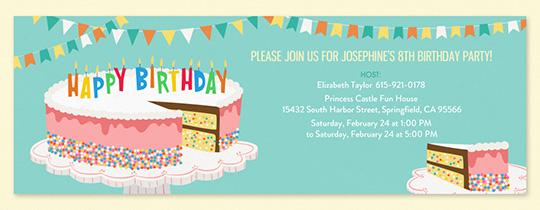 free birthday invitations send