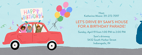 free birthday invitations send online
