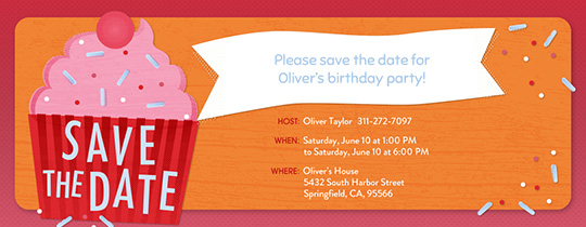 save the date birthday
