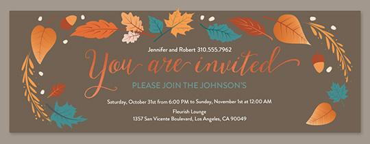 Free Online Thanksgiving Dinner Invitations