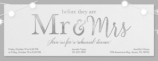 Wedding Mr Mrs Invitation Free