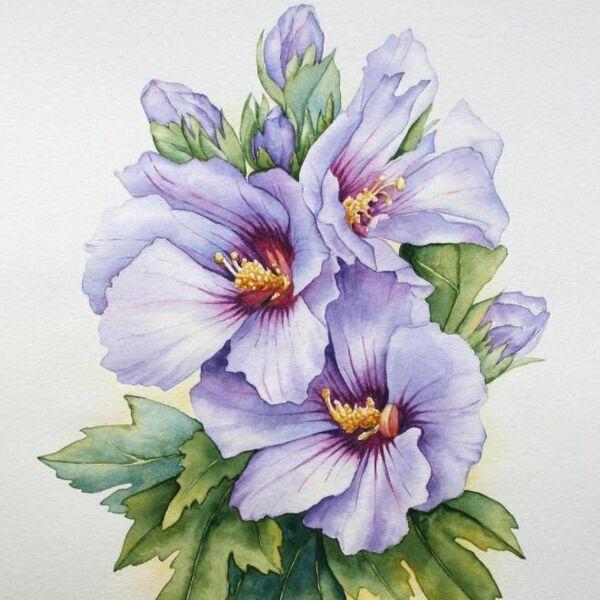Mavi çiçekler anne