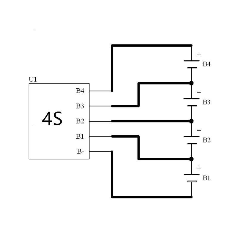 2S 17S 3S 4S 6S BMS Active Balancing 1A 5A Capacitor