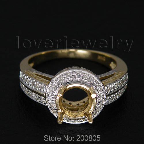 Ovale 8x10mm 14kt Or Blanc Diamant Semi mont Bague de Fiançailles SR0002USD  599.85-618.45 piece ... 357d619ef685
