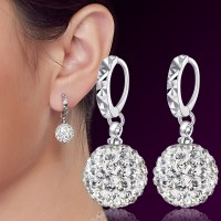 Fashion 925 Sterling Silver Earrings Women Ear Jewelry ...