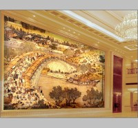 Murals Luxury Gold Embossed Wallpaper Abstrat 3d for hotel ...