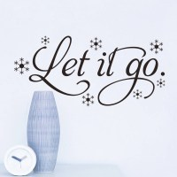 Let it Go Wall Stickers vinyl decal Living room decoration ...