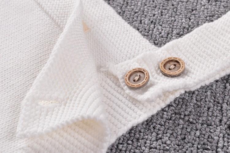 ⑥INS moda niñas Arco Iris patrón de suéter que hace punto condole ...