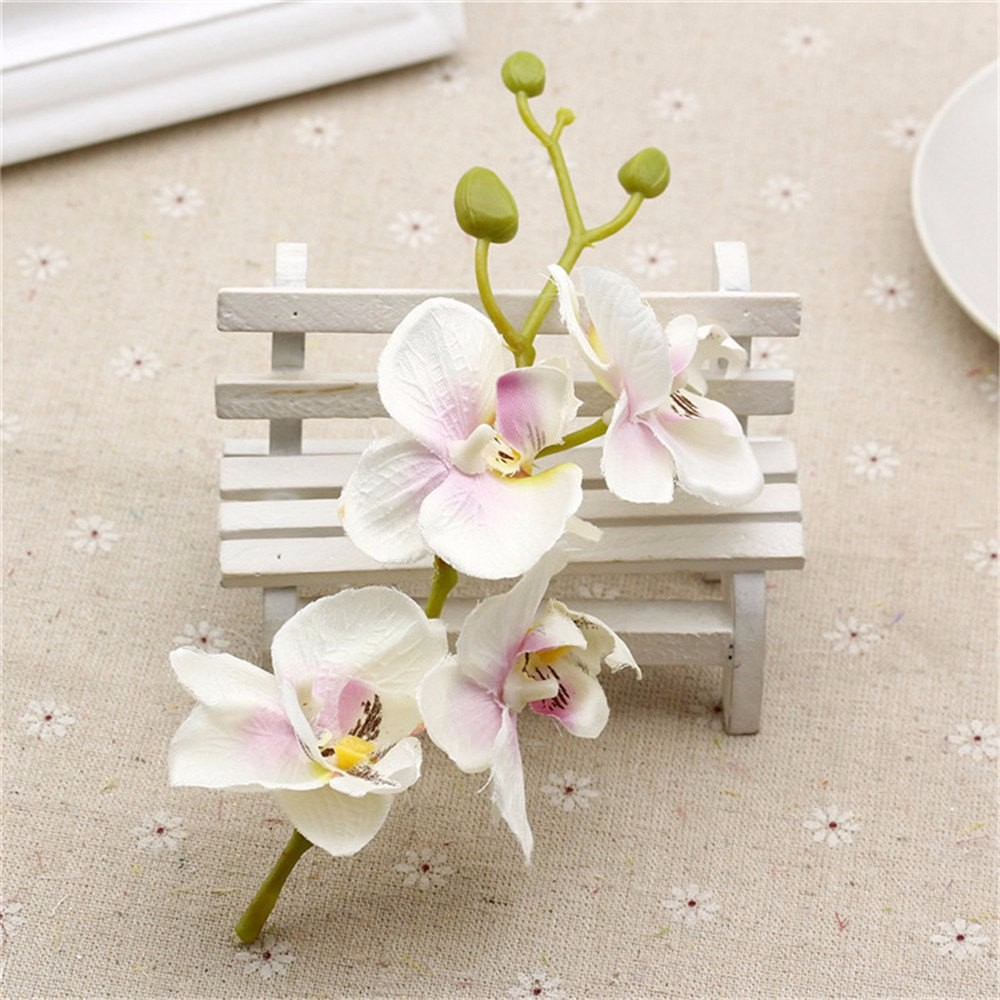 10pcslot Silk Artificial Orchid Bouquet For Home Wedding Party