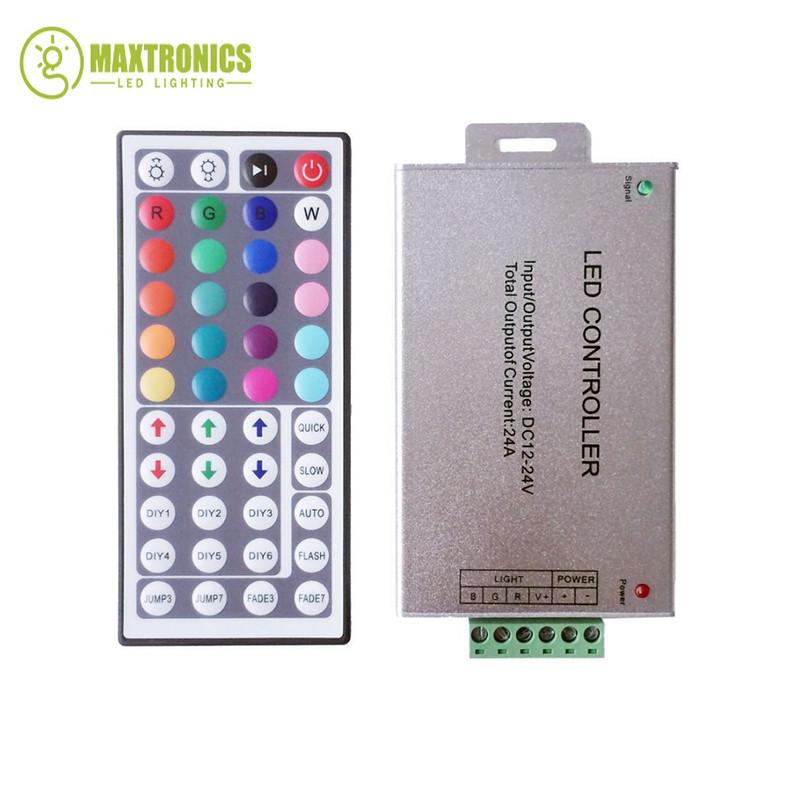 ᗖNueva DC12-24V 12A 44 teclas de control remoto ir LED RGB ...