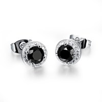 2015 Fashion Summer Stud Earrings Luxury White Gold Plated ...