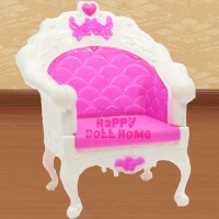 One Pcs Plastic Fashion Style Chair Princess Doll Sofa ...