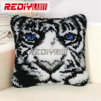 New 3D Latch Hook Pillow Kits White Tiger Hot DIY ...