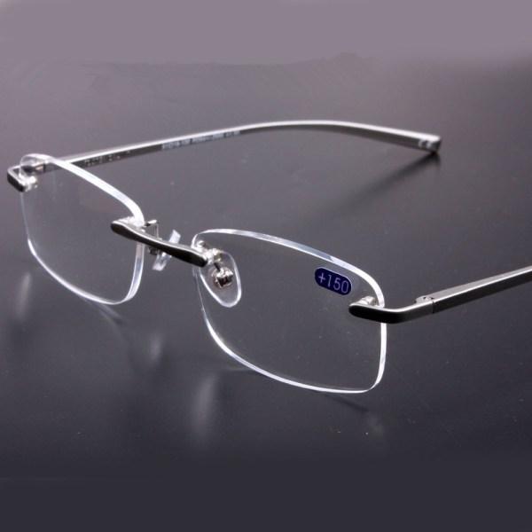 Super Quality Rimless Prescription Glasses Frame Reading 1.25 1