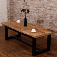 Distressed American country wood coffee table coffee table