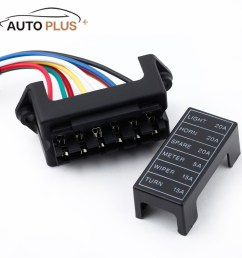 detail feedback questions about 6 way car fuse box circuit car trailer auto blade fuse box block holder dc 12v 24v 32v atc ato 2 input 6 ouput wire on  [ 1000 x 1000 Pixel ]