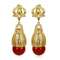 Aliexpress.com : Buy Dangle stone earrings Gold Pearl ...