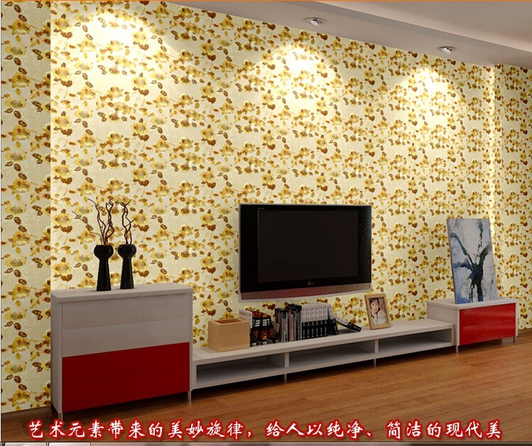 ღ ღNew Laser silver foil gold peony wall stickers sprinkled gold ...
