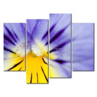 3 Piece Purple Wall Art Painting Blue And Yellow ...