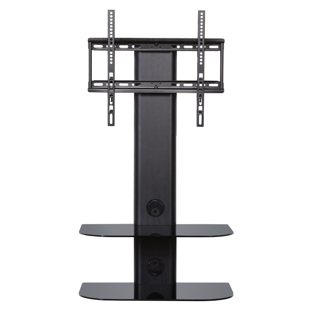 Feng Swivel Tv Wall Mount With 2 Tiers Glass Shelf For Up