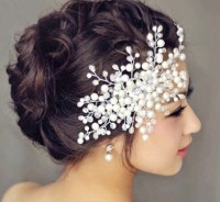 2015 Fashion Hair accessories Wedding Bridal faux pearl ...