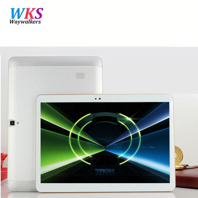 Новейшие Waywalkers 10 дюймов таблетки Dual Core/Camera 4 Г ПУСТЬ телефонный звонок tablet Android 6.0 4 ГБ/64 ГБ GPS Bluetooth WIFI tablet пк