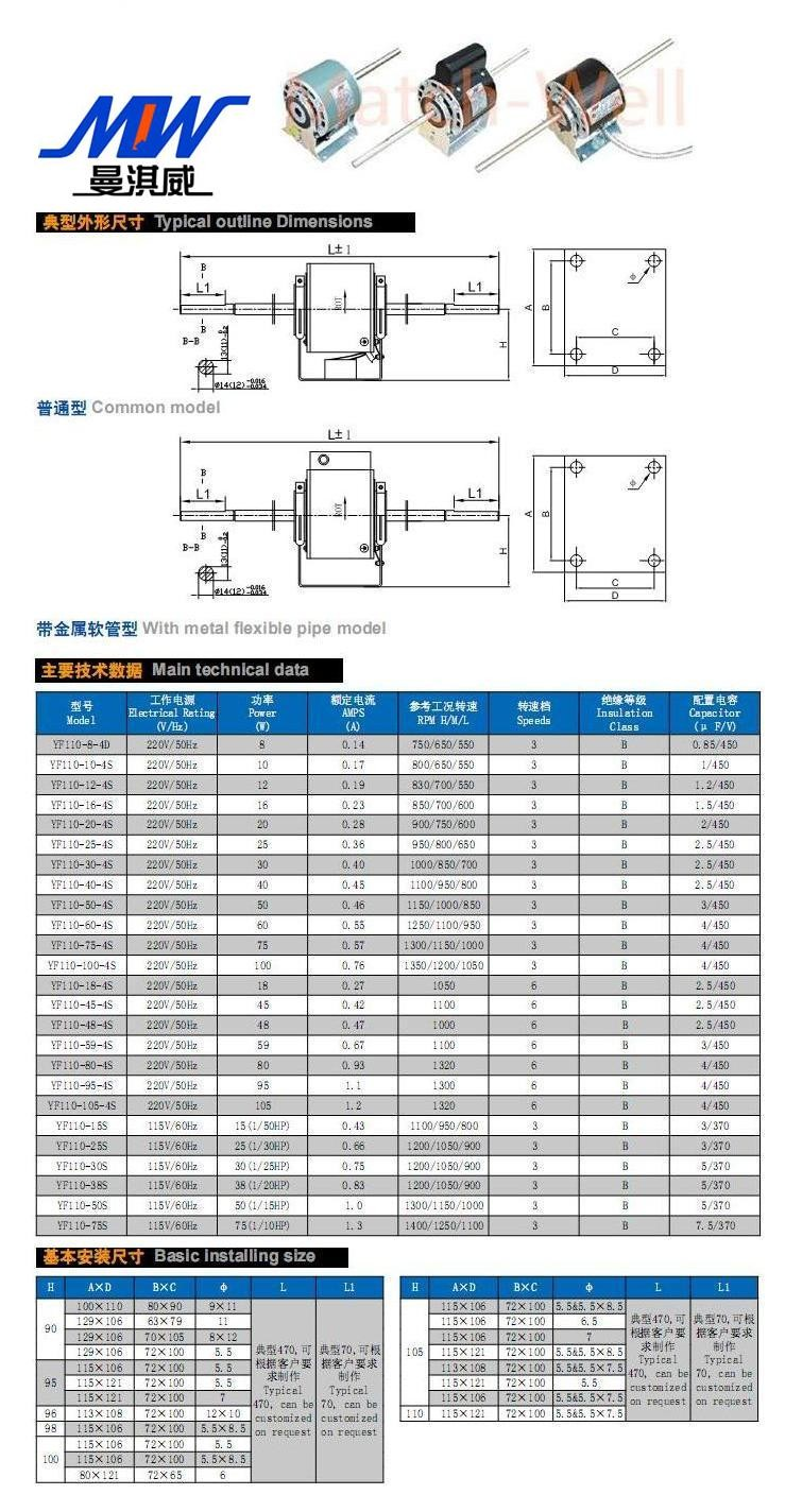 Fast Shipping Mow Yf139 220a3 Single Phase Capacitor Run Simple Speed Diagram L200 Dc Motor Control Circuit Asynchronous
