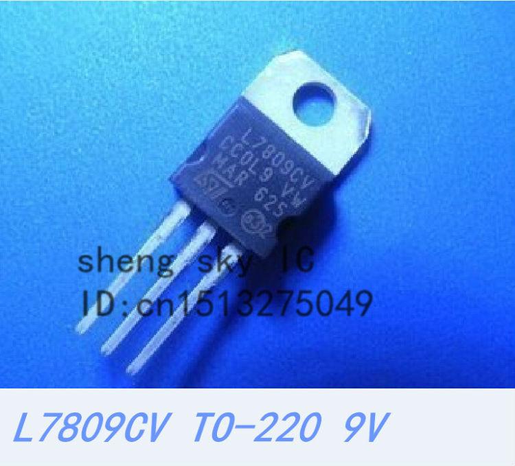New 10 PC LM7809 L7809 L7809CV ST TO-220 Voltage Regulator IC 9V 1.5A