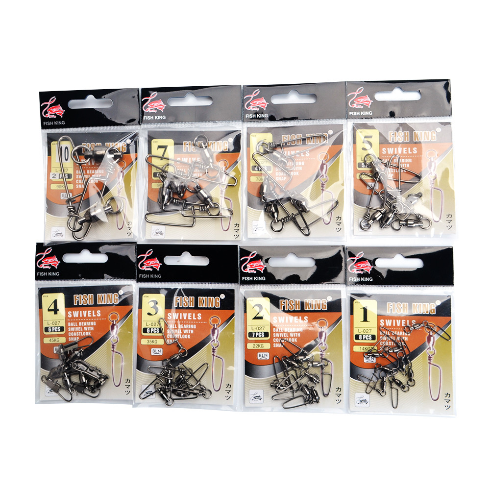 FISH KING 1 Pack 1 -10  Ball Bearing Fishing Swivel With Coast Look ... d30710c51