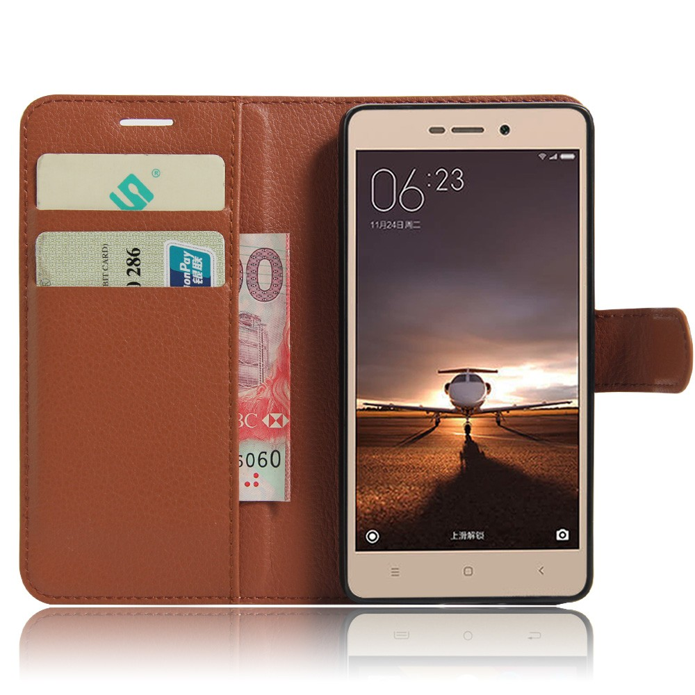 Pu Leather Case For Xiaomi Redmi 3 Pro 3s Cover Lcd Touchscreen Plus Frame 3x 3pro Original Wallet With Card Holder Stand Vintage Coque Fundas
