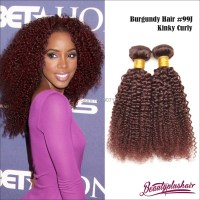 Indian Remy Human Hair Color 99j Hair Weave Red Braiding ...