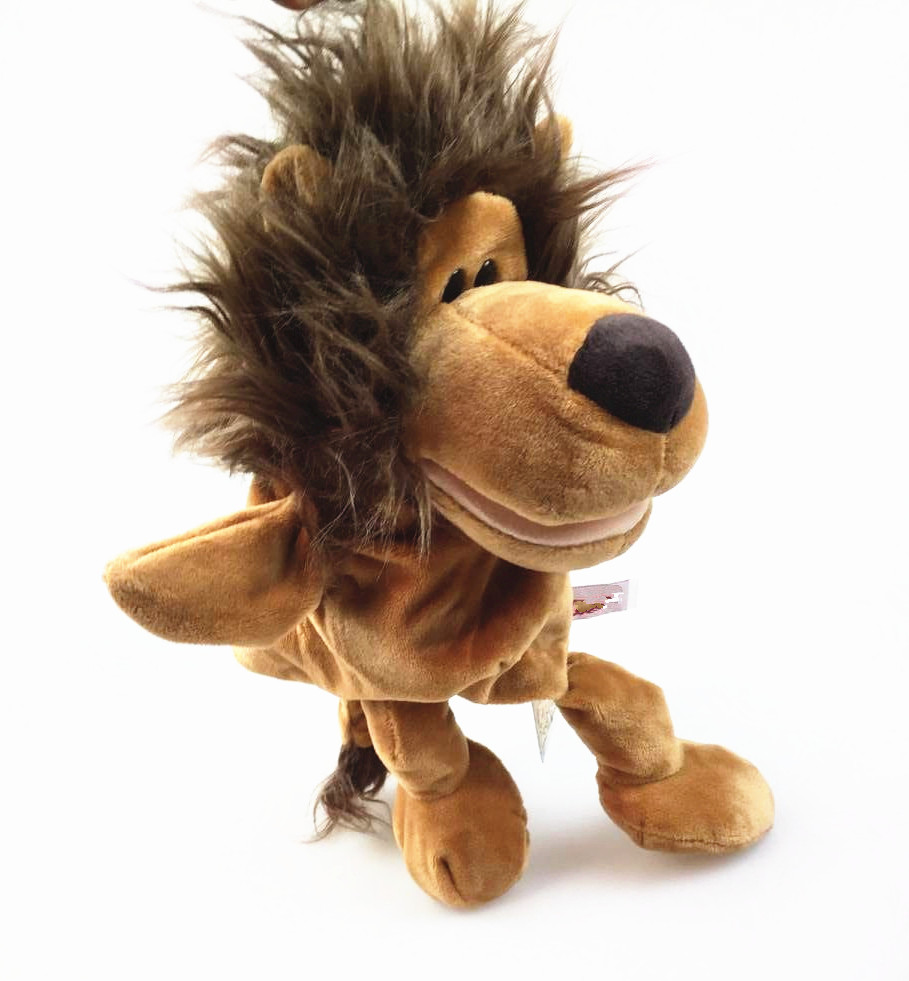 ᑐHand puppets mouth jungle animals move body ventriloquism doll ...