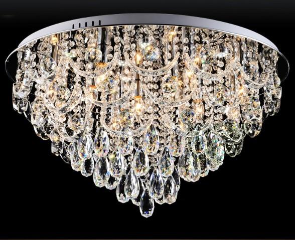 Plafoniera Rettangolare Cristallo : ᐂnuovo lusso lustre moderne plafoniere a led per soggiorno lampada