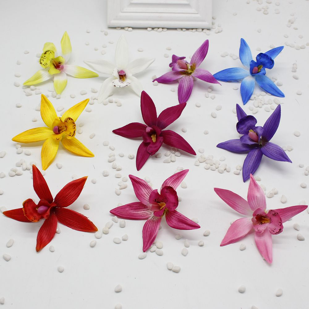 2pcslot Cheap Silk Butterfly Orchid Artificial Flower For Home