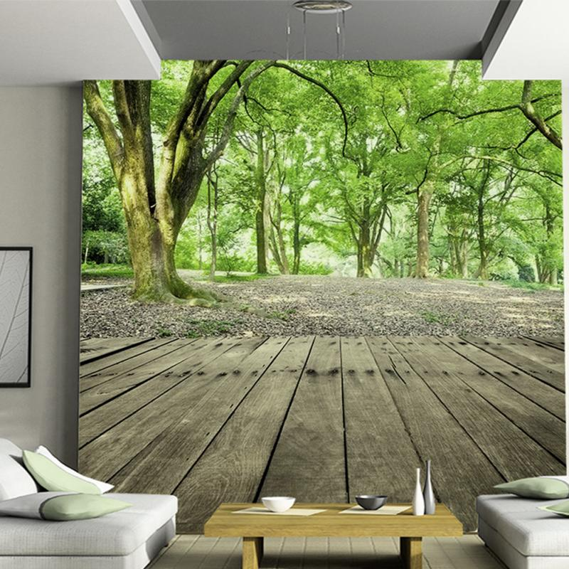 3D Photo Wallpaper Forest Nature Designer Wall Mural Wallpaper