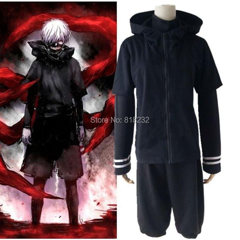 Tokyo Ghoul Kaneki Ken Black Coat Hoodie Shorts Uniform