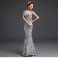 Sexy Mermaid Prom Dresses 2016 New Style Crystal Sequined