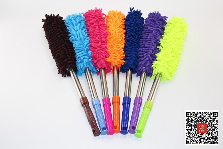 Noir bleu Outil de nettoyage de poussi/ère de nettoyage de poussi/ère de tube de paille