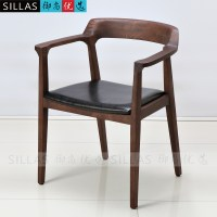 Nordic wood armchair book chair conference chair leisure ...