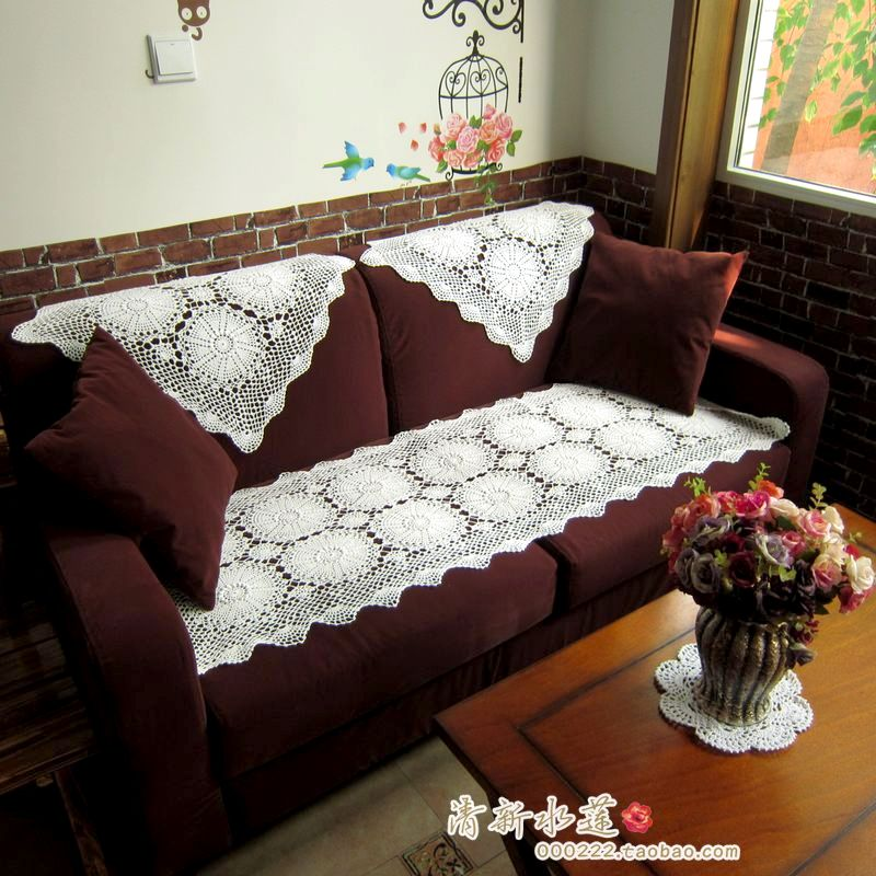 latest design sofa covers reclaimed lumber table 2014 fashion cotton crochet lace cover handmade three dimensional flower set towel for tablecloth