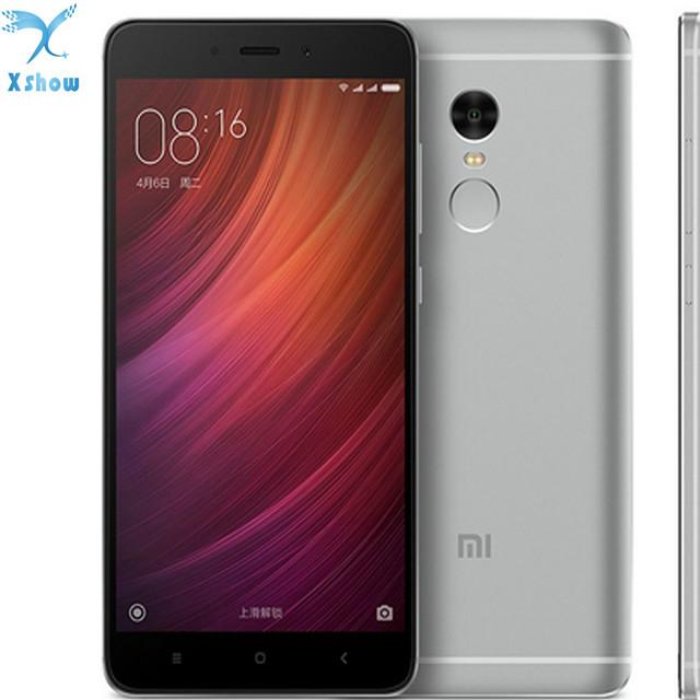 """Original Xiaomi Redmi note 4 MTK Helio X20 2GB RAM 16GB ROM Deca Core 5.5 """" 1080P MIUI 8 Fingerprint ID note4 4G FDD LTE"""
