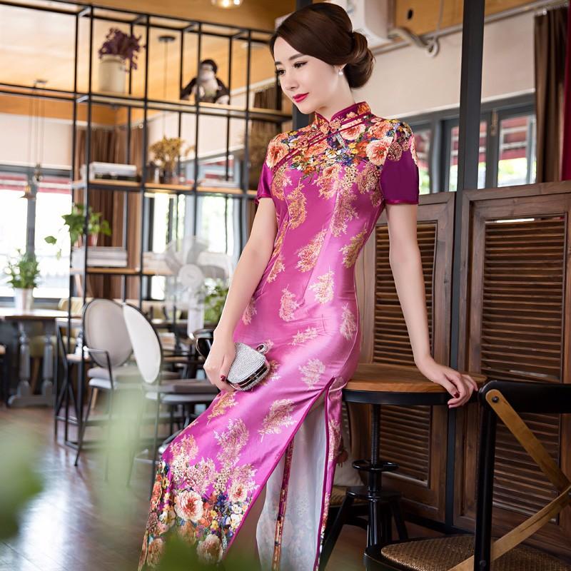 ᐃShanghai Historia larga vestido chino vestidos de estilo oriental ...