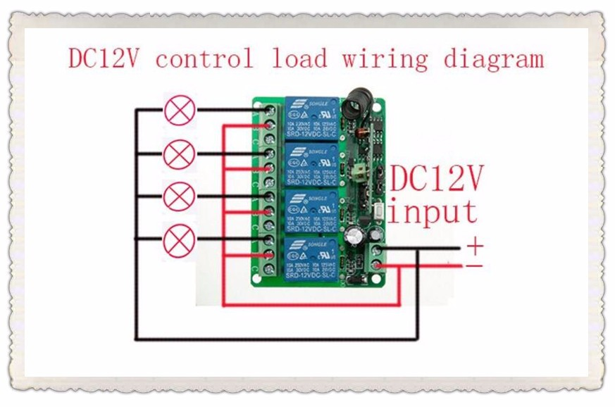 New Dc12v 4ch Rf Wireless Remote Control System Teleswitch 2