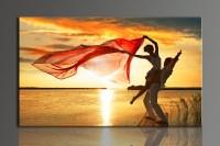 L700 Romantic dancing lovers, large HD canvas print ...