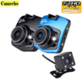 2016 New Novatek 2 lens Car DVR GT300 1080P Dual Camera Video Recorder With Rear Camera