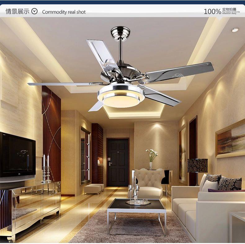 Dining room living room ceiling fan lights LED European